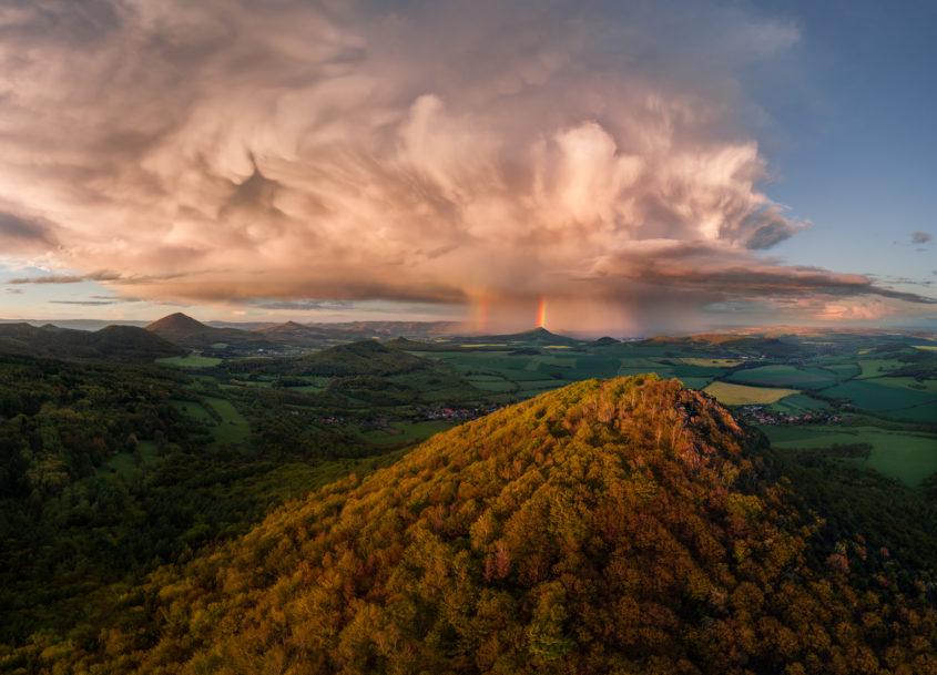 Lipská hora a Milešovka