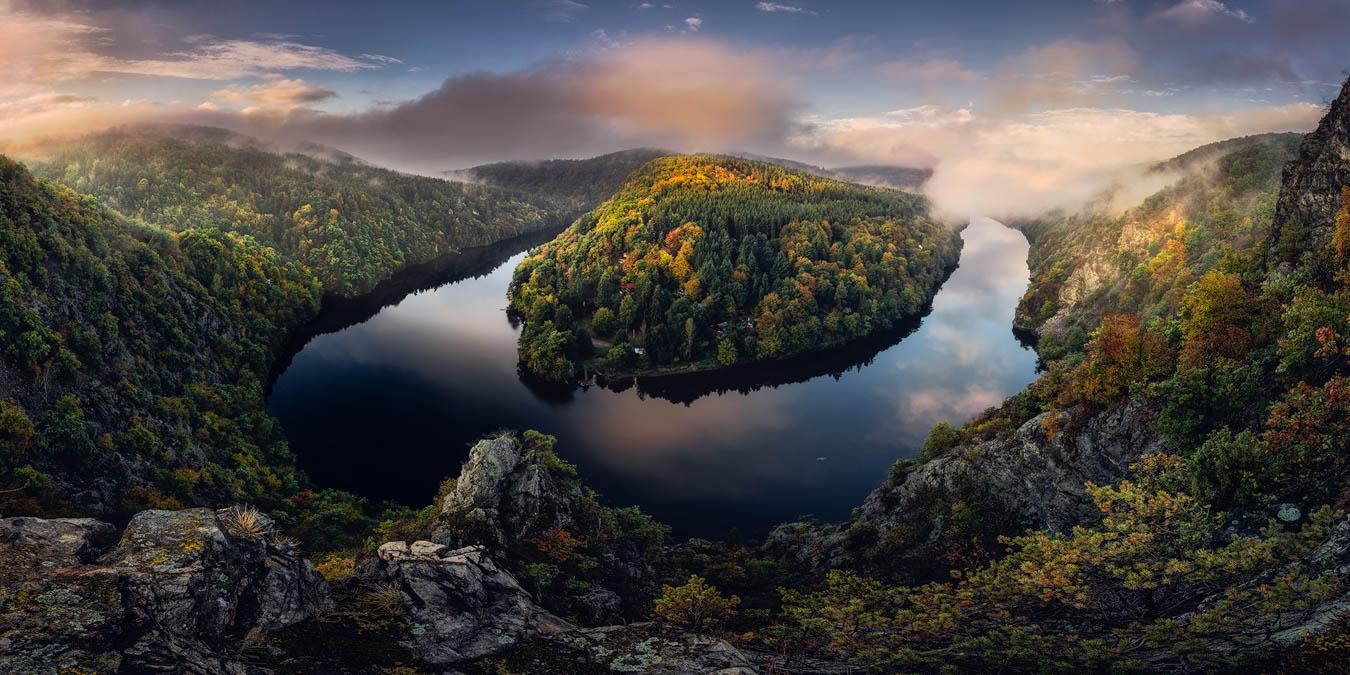 Podzim na Smetanově vyhlídce